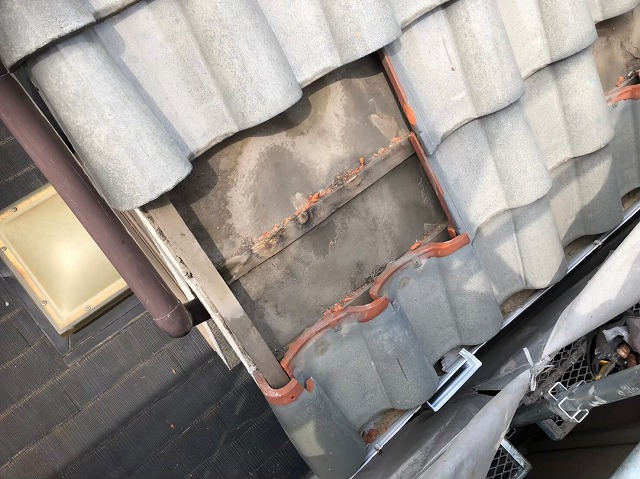 斑鳩町で台風被害に遭ったS形瓦の無料点検
