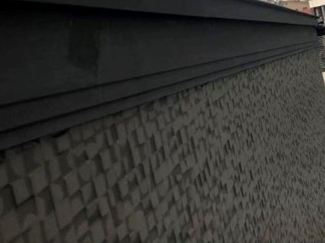 良市の台風被害の立平葺きの唐草設置