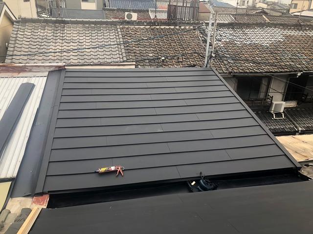 トタン屋根をカバー工法