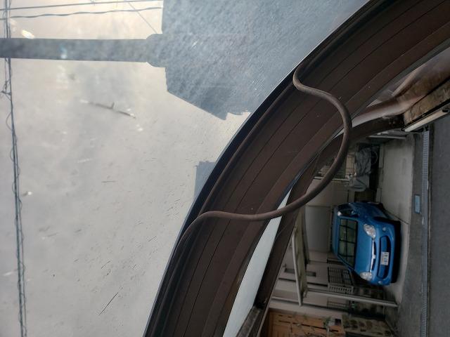 王寺町でカーポート屋根用ゴムパッキン外れ