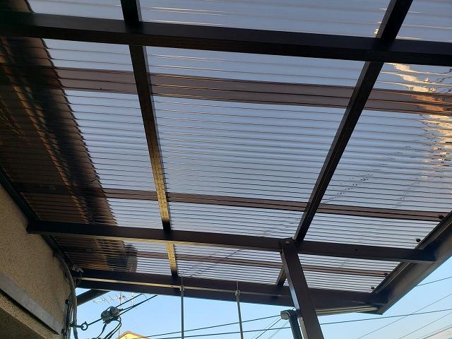 奈良市で波板交換工事後の完工写真