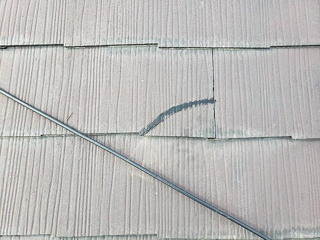 大和郡山市の割れたカラーベストの設置完了
