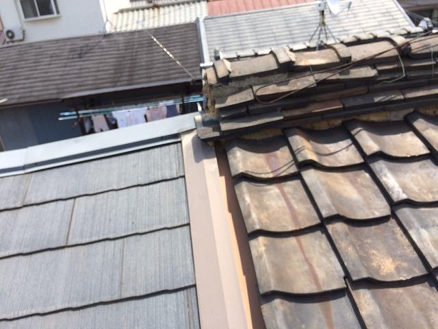 奈良市の屋根診断中の瓦屋根