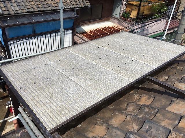 奈良市の屋根診断の屋根工事前