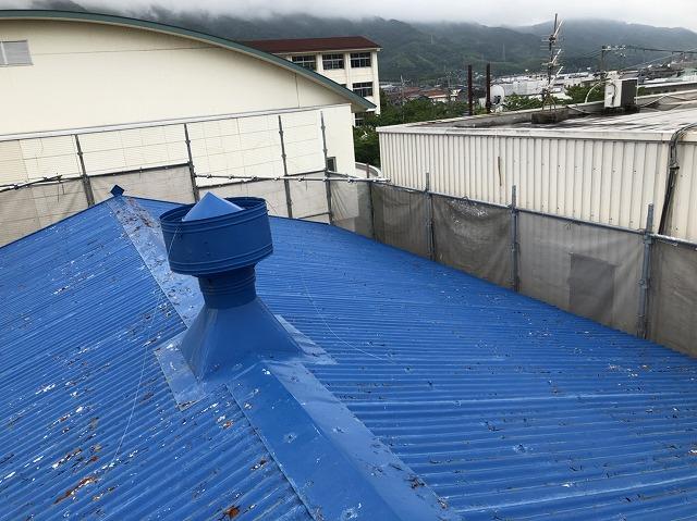王寺町の青いスレート波板の無料点検