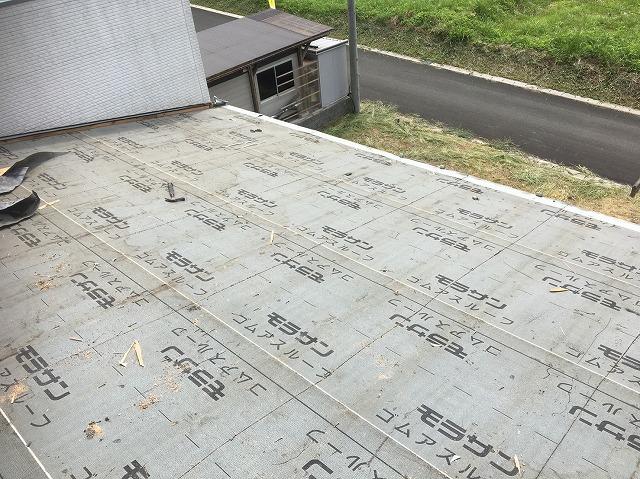 香芝市のトタン屋根の古い防水紙