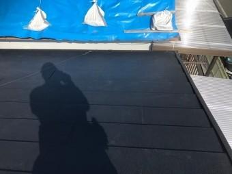 香芝市の完成したスーパーガルテクト屋根