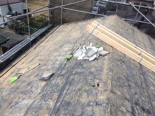 瓦撤去後屋根