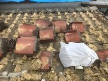 湿式工法の釉薬瓦屋根の工事