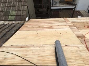 野地板を張った屋根