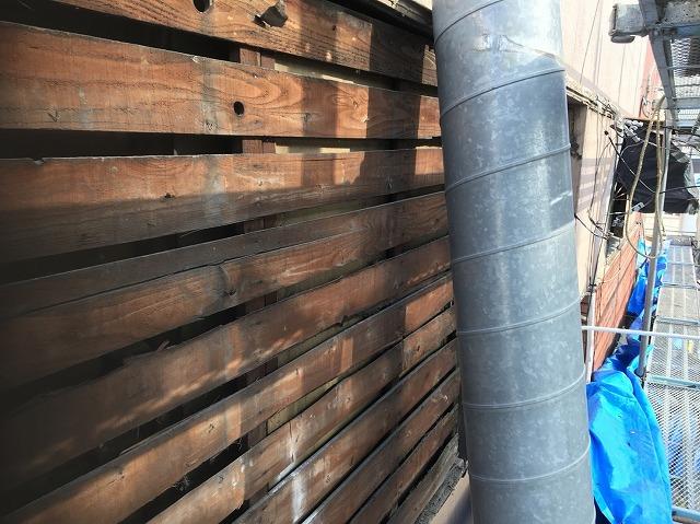 奈良市の店舗のサイディング壁の撤去