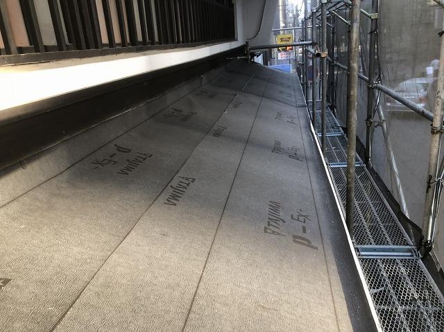 奈良市の下屋根の防水紙