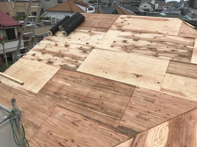 奈良市 野地板 増し張り