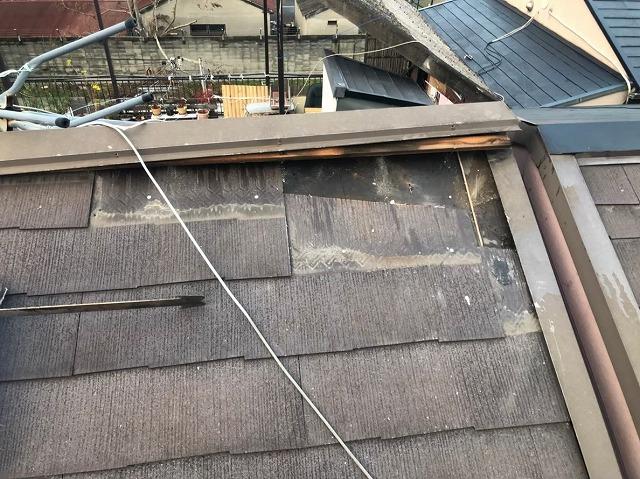 葛城市 カラーベスト屋根 大棟補修