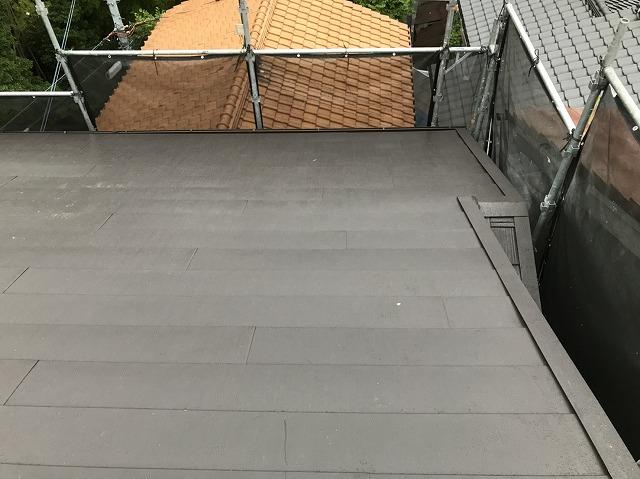 横暖ルーフ葺き替え完成の屋根