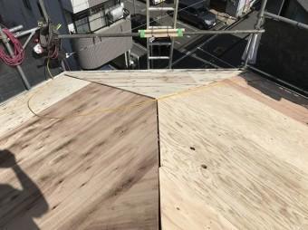 新しく設置した構造用合板
