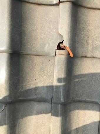 瓦の入れ替え工事