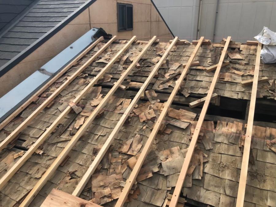 奈良市のかさ上げ作業の様子