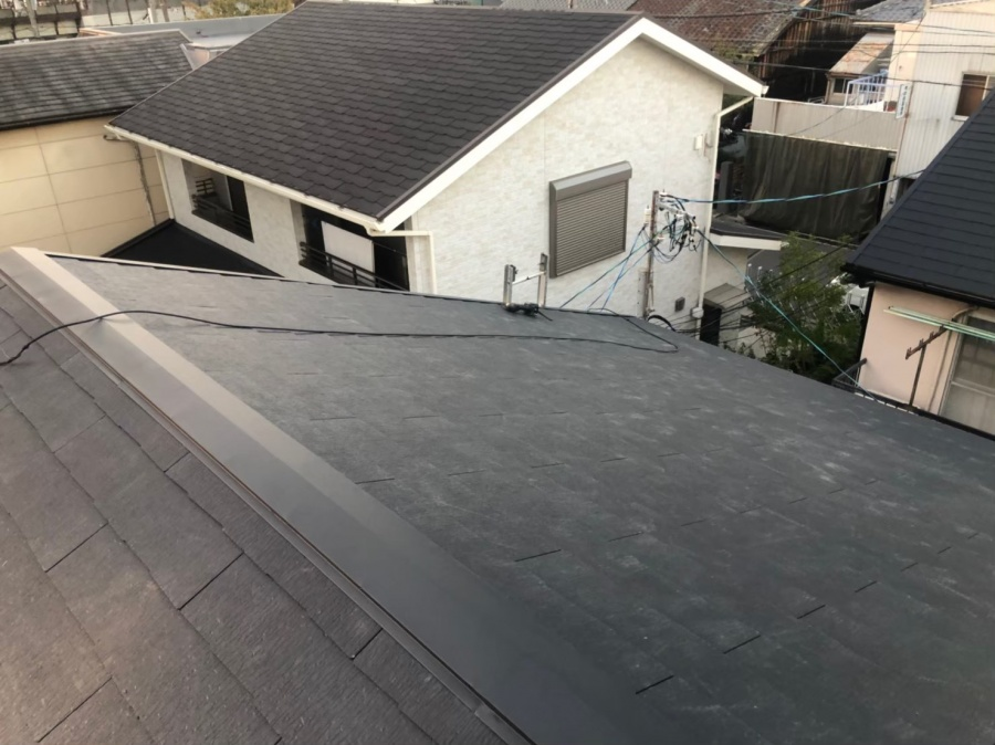 奈良市のカラーベスト屋根完成