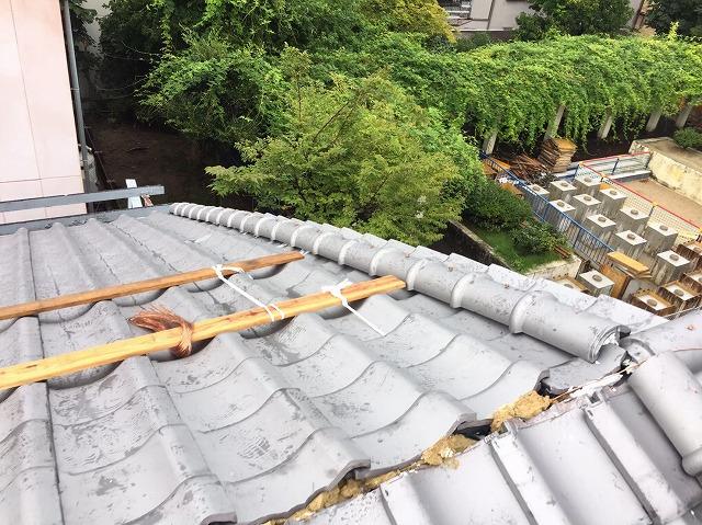 奈良市でから引っ掛け桟工法で葺き替え工事
