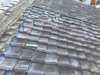 奈良市の屋根修理の現場調査