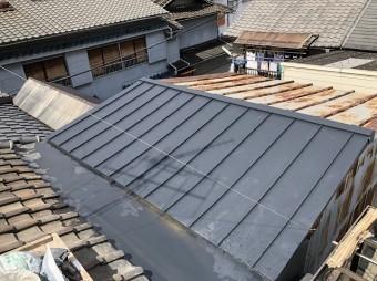 奈良 金属屋根 重ね葺き完成
