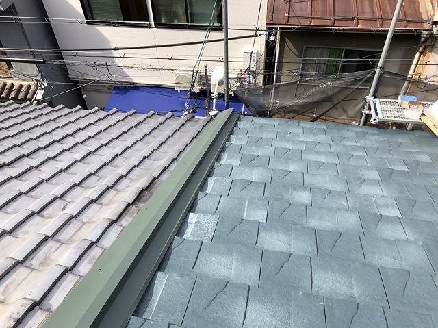 ルーガ鉄平に葺き替え屋根