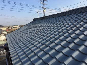 和瓦屋根の現場調査