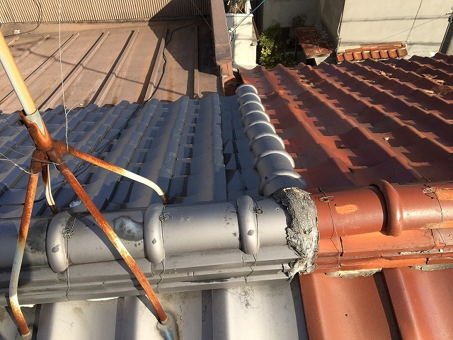 工事前屋根