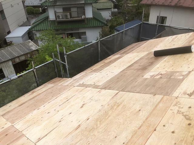 野地板の増し張りと構造用合板