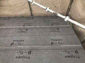 生駒市で下葺き材(防水紙)の設置