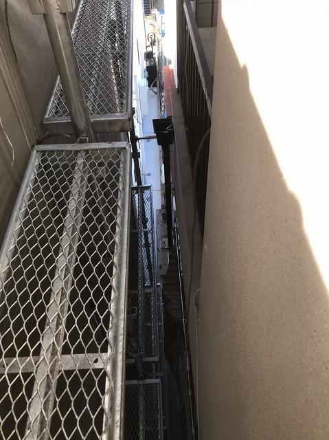 雨樋の取り換えと足場
