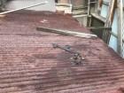 橿原市 錆びたトタン下屋根 現調