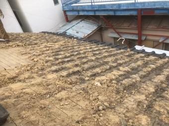 桜井市 和瓦 瓦撤去作業