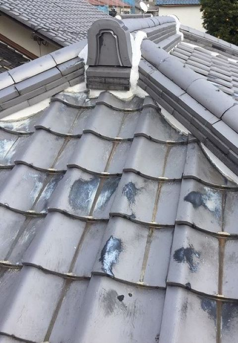 奈良市の瓦屋根修理 鬼瓦