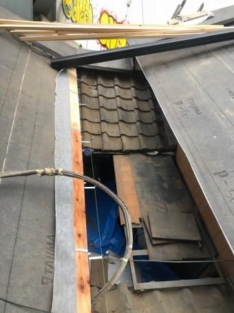 生駒市 下屋根 防水紙