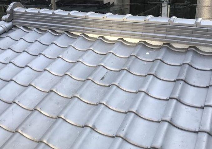奈良市の瓦屋根の棟瓦完成