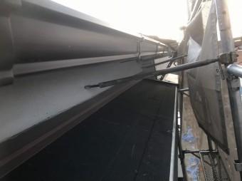 庇のも防水紙設置