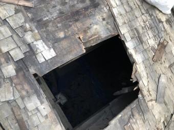 奈良市の傷んだ屋根下地