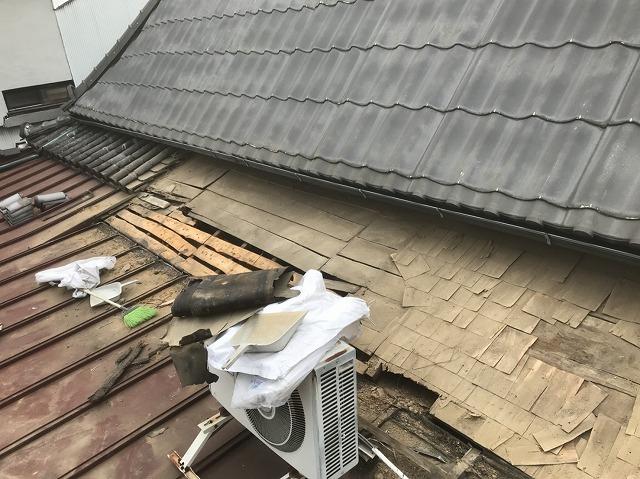 三宅町 瓦の解体 葺き替え工事