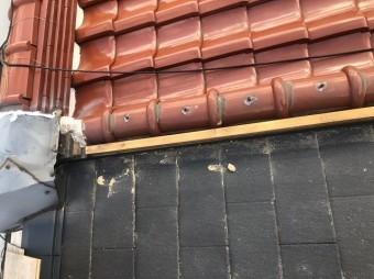 奈良市の屋根の取り合い板金撤去