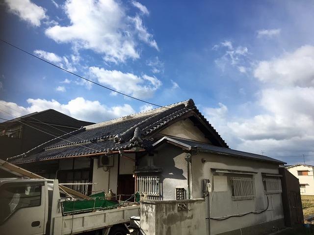 葛城町 複合屋根 完成