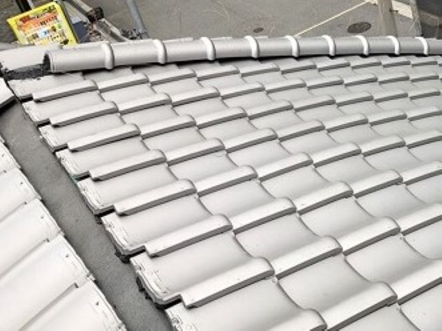 奈良市の瓦屋根の棟瓦施工前