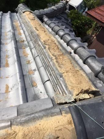 生駒市の台風被害で崩れた風切丸
