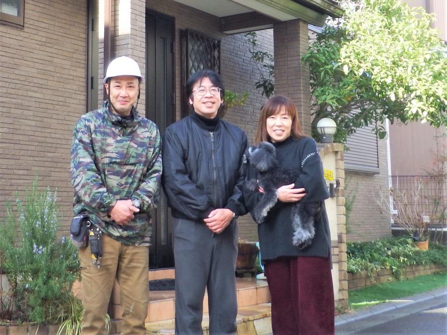 生駒市で太陽光付きスレート屋根の葺き替えと外壁塗装をされてお喜びのお客様の声