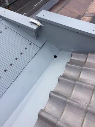 笠木交換後の屋根