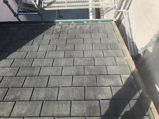 天理市のスレート屋根の袖瓦を撤去
