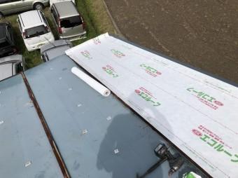 遮熱シートを張った屋根