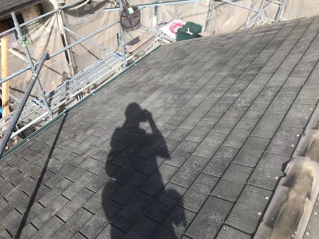 天理市のスレート屋根のお住まいの棟瓦撤去