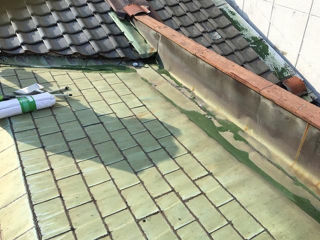 工事前の銅板屋根